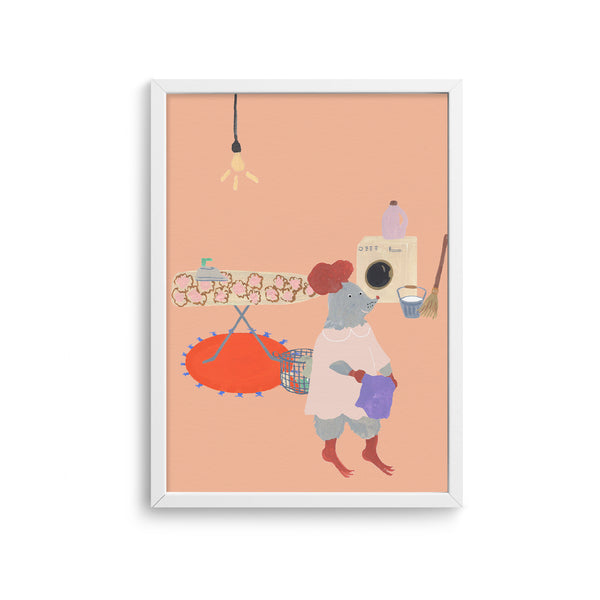Mouse House Laundry Room Poster