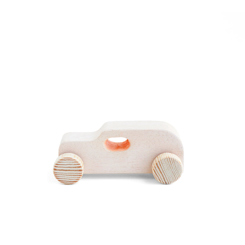 Wooden Car Peach Ahsap Oyuncak