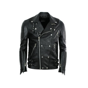Leather Moto Jacket ( Black ) LEATHER JACKET
