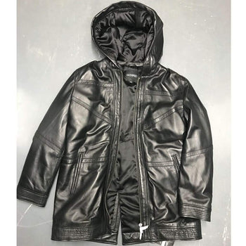 LEATHER PARKA JACKET