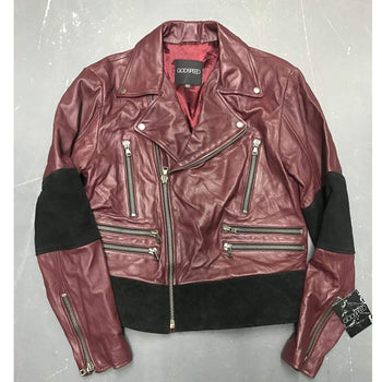 NZ BIKER BURGUNDY sz L