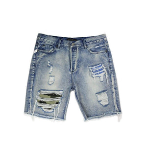Skid R&r Denim Shorts (Blue) - Shorts