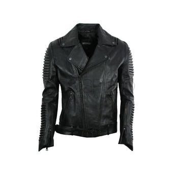 Stealth Moto Jacket ( Black ) LEATHER JACKET