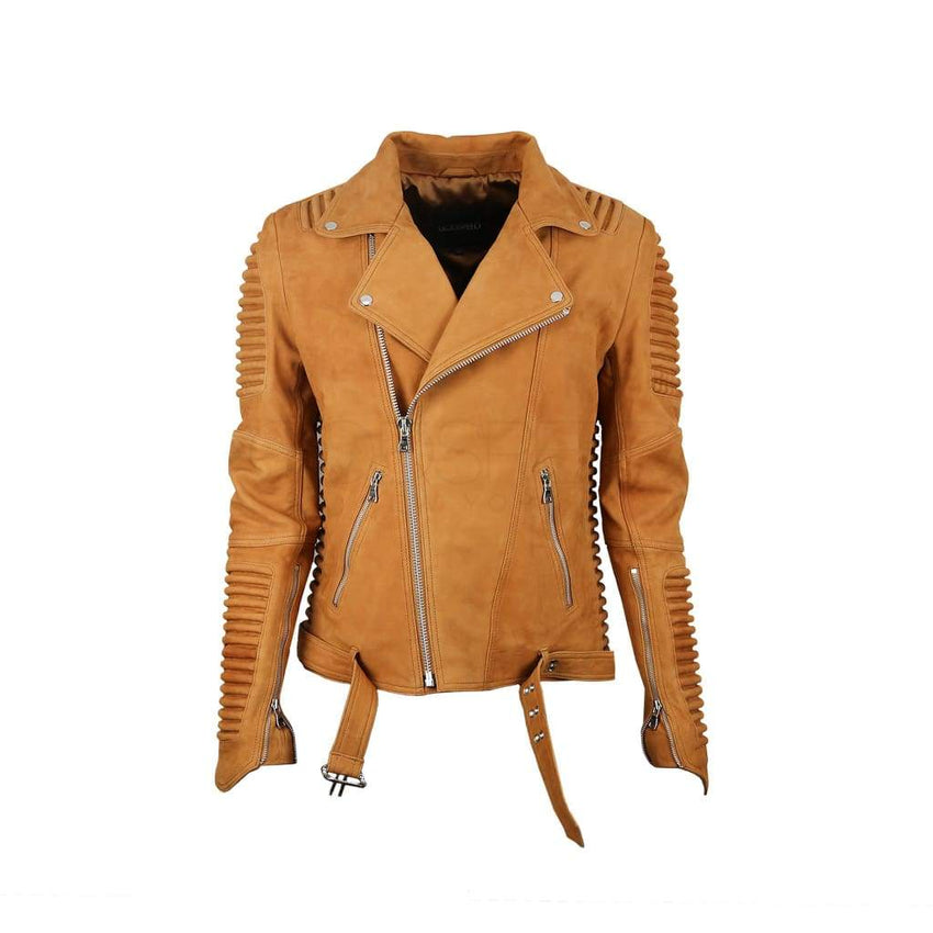 Stealth Moto Jacket ( Camel Nubuck ) LEATHER JACKET