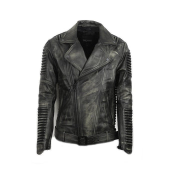 Stealth Moto Jacket ( Vintage Black ) LEATHER JACKET