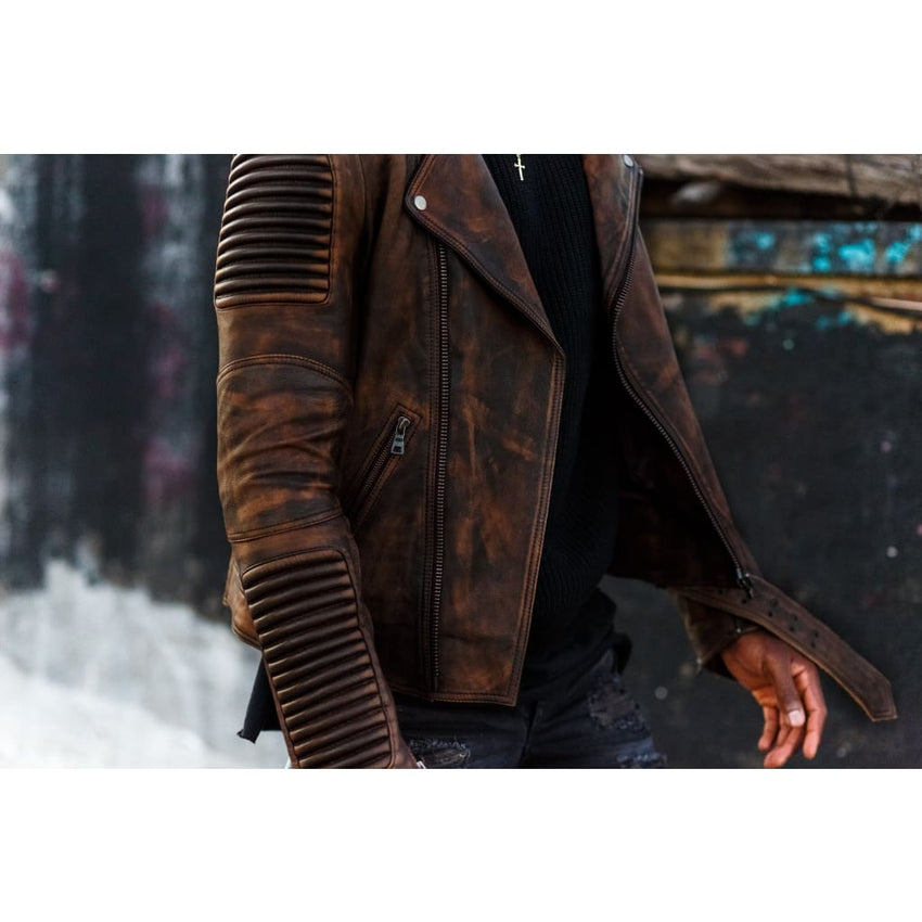 Stealth Moto Jacket ( Vintage Brown ) LEATHER JACKET