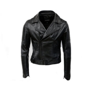 Women Moto Jacket ( Triple Black ) LEATHER JACKET
