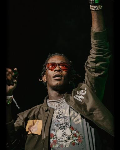 Young Thug Spotted On Tour Wearing Godspeed