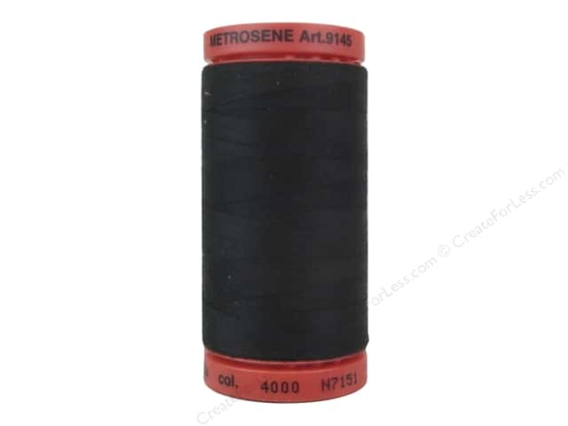 Mettler Polyester Metrosene Thread 0003 BLACK