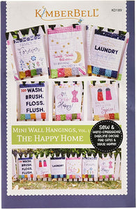 "Kimberbell Mini Wall Hangings VOL1 ""The Happy Home"" Sewing Version"