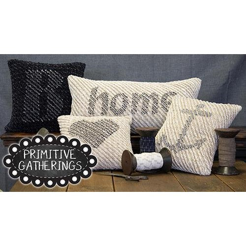 Primitive Gatherings Chenille Pillows Pattern