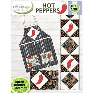 Hot Peppers Apron, Runner, Placemat PATTERN DLL138