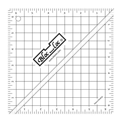 Bloc Loc 6.5 Half Square Triangle Ruler