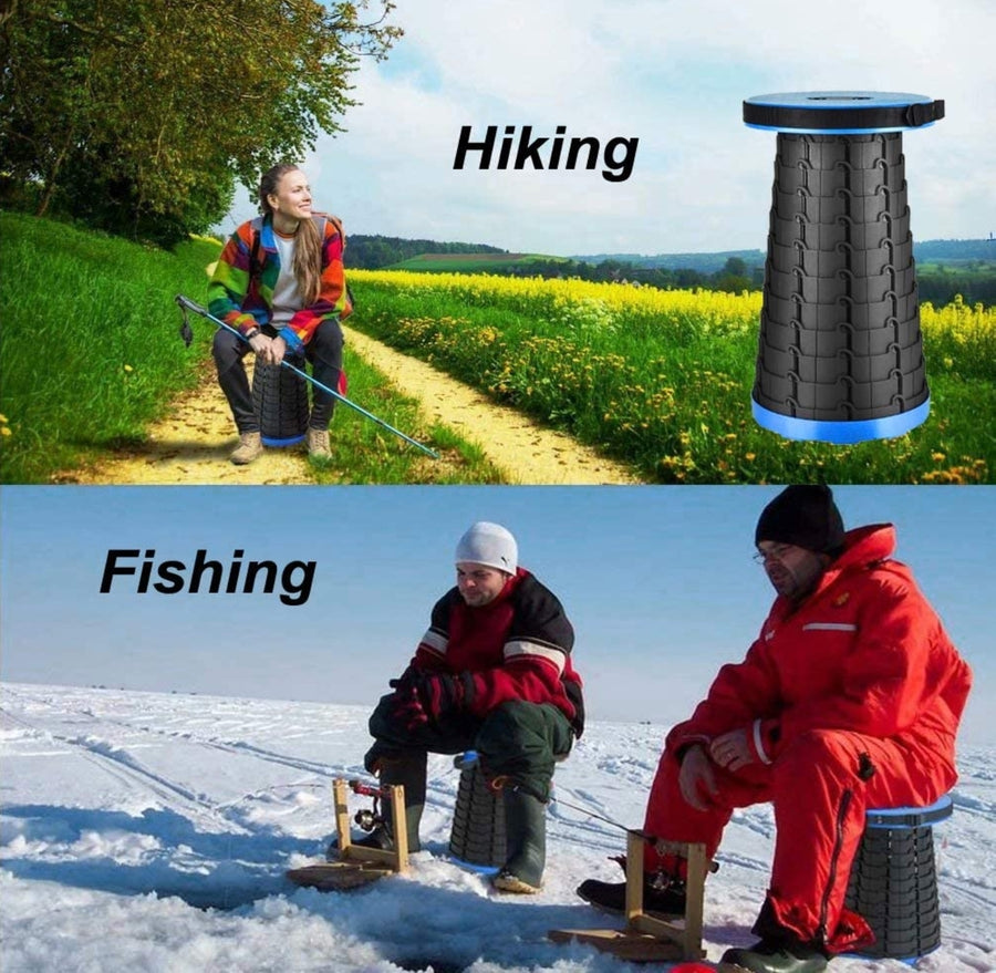 Instaseat Retractable Camping Stool for Camping, Fishing, Bonfires, Beaches