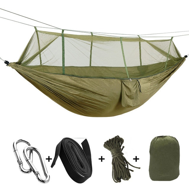 1-2 Person Outdoor Hammock with Mosquito Net