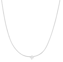 Load image into Gallery viewer, Tai Necklace - Snake Chain with Simple CZ Center Stone