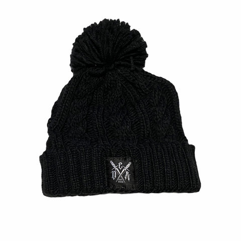Knitted beanie (blk)