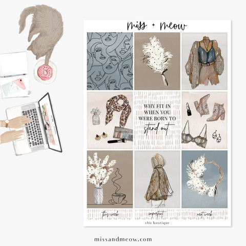 Chic Boutique - Foiled Sticker Kit