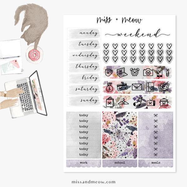 Enchanted Night - Foiled Sticker Kit