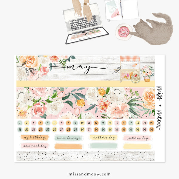 May - Foiled Monthly Sticker Kit