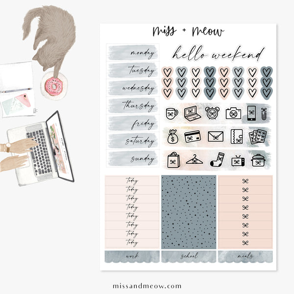 Sea Salt - Foiled Sticker Kit