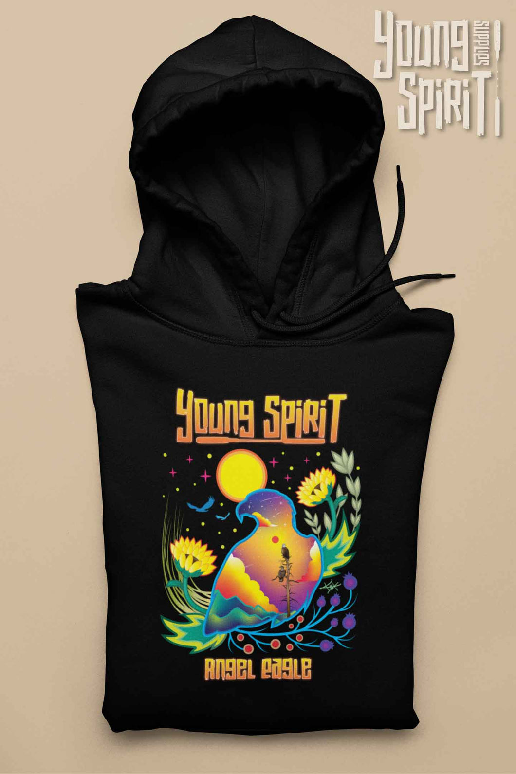 Angel Eagle - Hoodie, Design by Kaylene BigKnife