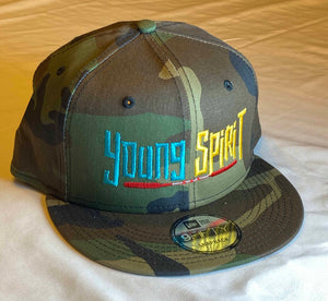 YOUNG SPIRIT (EMBROIDERED), NEW ERA® FLAT BILL SNAPBACK CAP - NE400