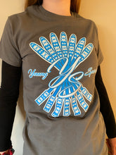 Load image into Gallery viewer, YS, Grey T-shirt with Blue logo (Limited Edition)