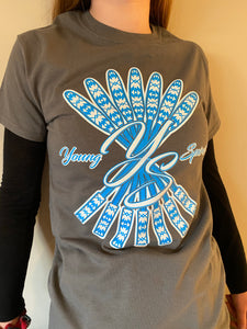 YS, Grey T-shirt with Blue logo (Limited Edition)