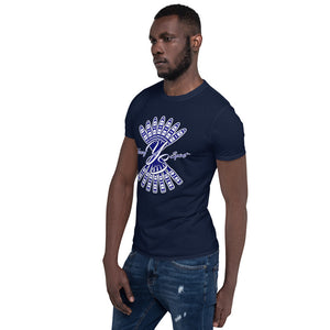 Short-Sleeve Unisex T-Shirt (Navy logo)