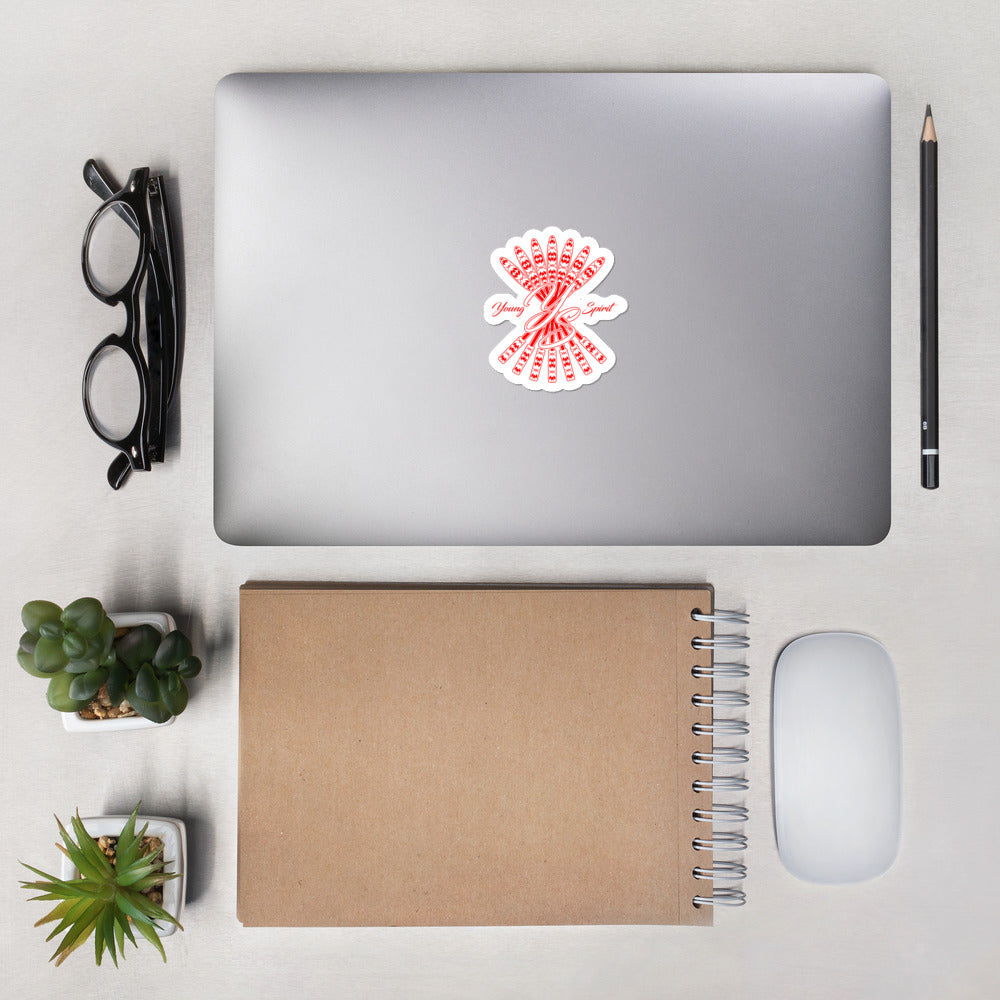 Bubble-free stickers (Red Logo)