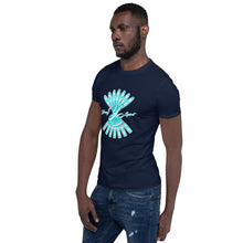 Load image into Gallery viewer, Short-Sleeve Unisex T-Shirt (Aqua logo)