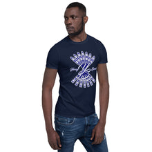 Load image into Gallery viewer, Short-Sleeve Unisex T-Shirt (Navy logo)