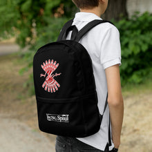 Load image into Gallery viewer, Black Backpack (Red Logo)