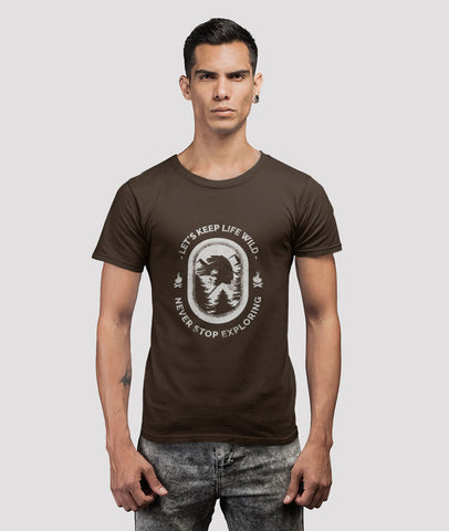 Men Graphic T-shirt | Let's Keep Life Wild