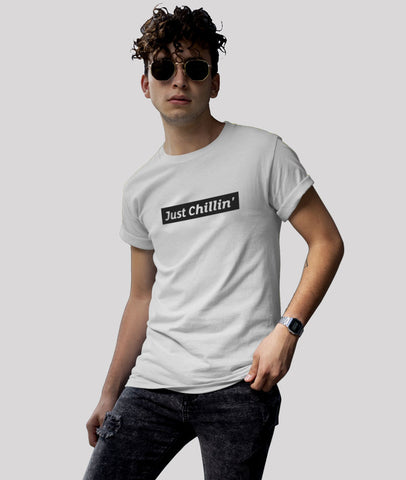 Just Chillin' Men Graphic Round Neck Cotton T-Shirt