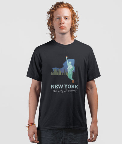 Men Graphic T-Shirt | New York (City of Dreams)