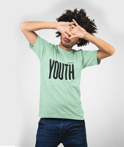 Inspire Youth Men Cotton T-Shirt Prism Mint Featured