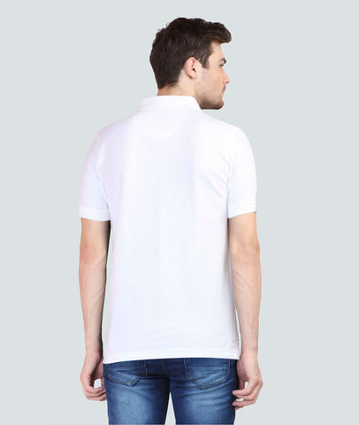 UG White Polo T-Shirt Back View