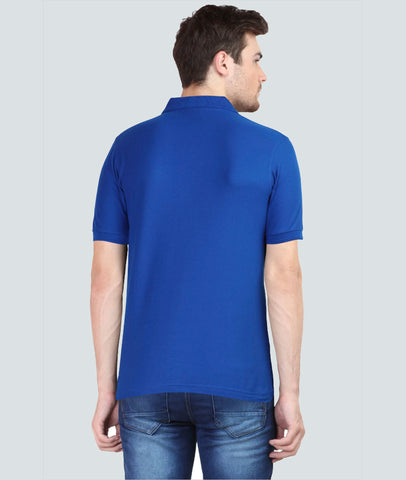 UG Blue Polo T-Shirt Back View