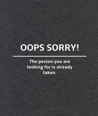 OOps Sorry! Men Graphic Sweatshirt