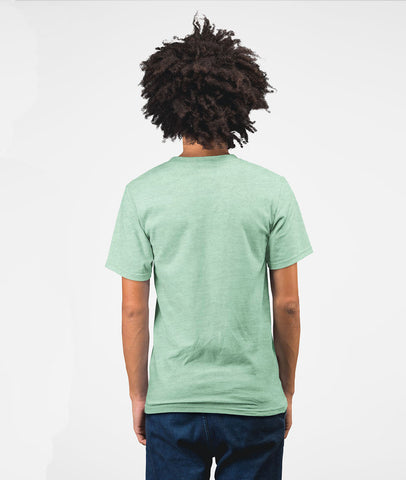 Inspire Youth Men Cotton T-Shirt Prism Mint Back