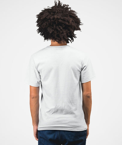 Inspire Youth Men Cotton White T-Shirt Back