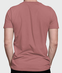 Men Round Neck Mauve Cotton T-shirt Fabulous Back