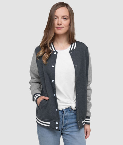 Women Letterman Bomber Jacket | College League