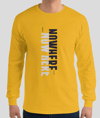 Men Long Sleeve Graphic T-Shirt | Gold