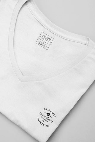 V-Neck T-Shirt | White