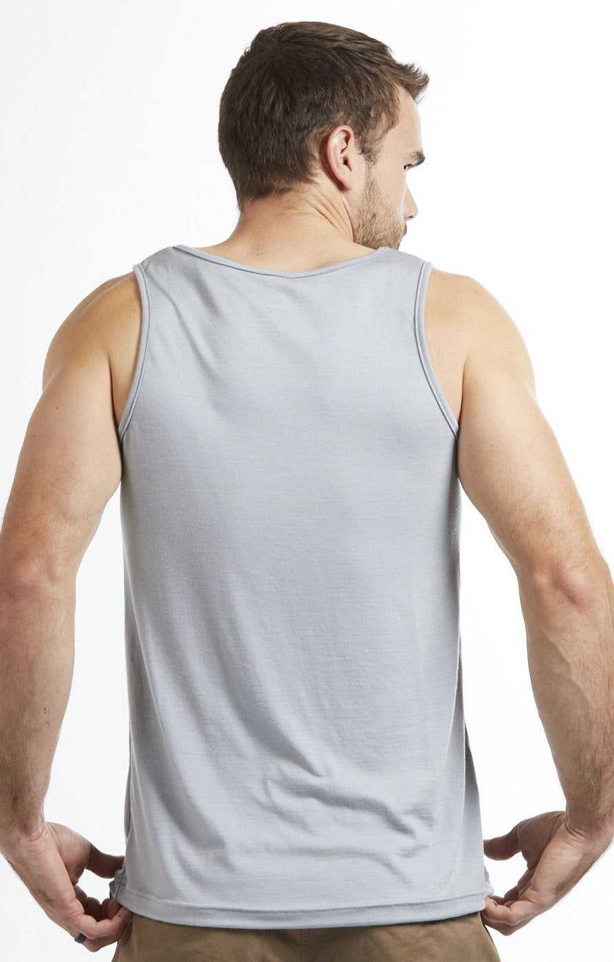 Men's Merino Wool Tank Top - Grey