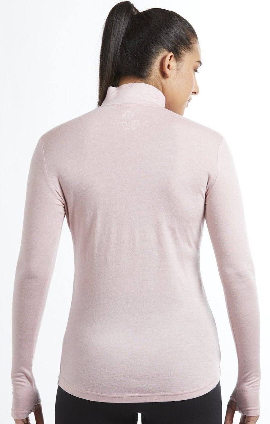 Womens merino wool Everyday quarter zip top