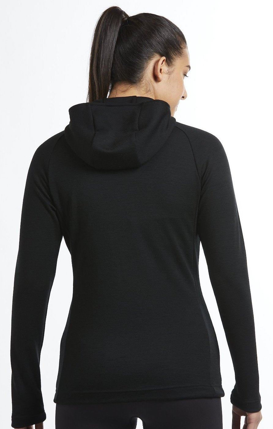 Womens merino wool Akaroa Long Sleeve Zip Hoodie